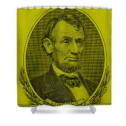 Shower Curtain featuring the photograph Abe On The 5 Yellow by Rob Hans