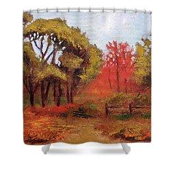 Abeel Fields Shower Curtain