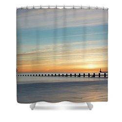 Aberdeen Beach Sunrise Shower Curtain