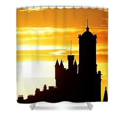 Aberdeen Silhouettes - Landscape Shower Curtain