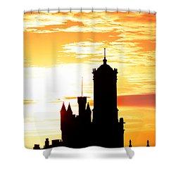 Aberdeen Silhouettes - Portrait Shower Curtain