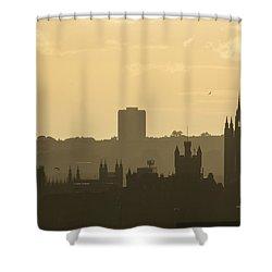 Aberdeen Skyline Silhouettes Shower Curtain