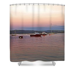 Aberdovey Moorings. Shower Curtain