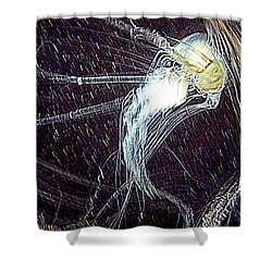 Shower Curtain featuring the photograph Aberration Of Jelly Fish In Rhapsody Series 2 by Antonia Citrino