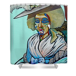 Abigail Adams Shower Curtain by Gray