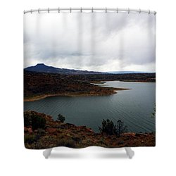 Abique Lake Nm Shower Curtain