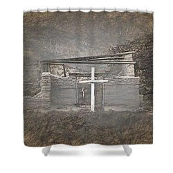 Abiquiu Nm Church Ruin Shower Curtain