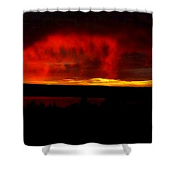 Shower Curtain featuring the painting Abiquiu Reservoir  by Dennis Ciscel