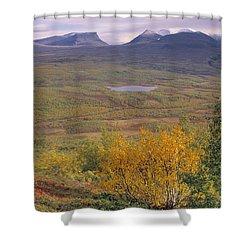 Abisko Nationalpark Shower Curtain by Thomas M Pikolin