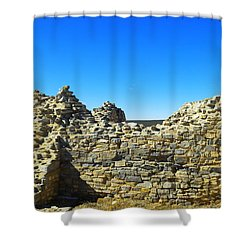 Shower Curtain featuring the photograph Abo Mission Ruins New Mexico by Jeff Swan