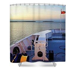 Aboard The Chi-cheemaun Shower Curtain