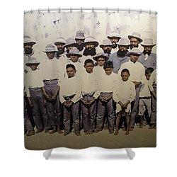 Shower Curtain featuring the photograph Aboriginal Life 1901 To 1914 by Miroslava Jurcik