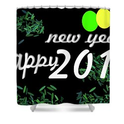 About New Year Shower Curtain