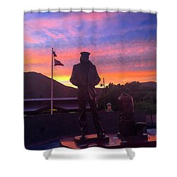 Merchant Marine Statue Shower Curtain