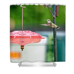 About To Land Shower Curtain