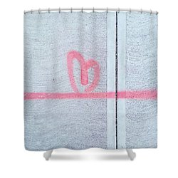 Above All Else, #love Shower Curtain