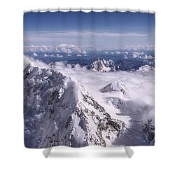 Above Denali Shower Curtain by Chad Dutson