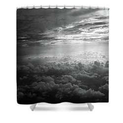 Above Earth 3 Shower Curtain by Cedric Hampton