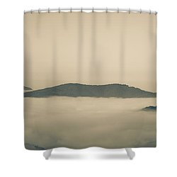 Above Everything Shower Curtain by Gabriela Insuratelu