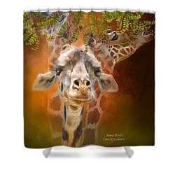 Above It All Shower Curtain by Carol Cavalaris