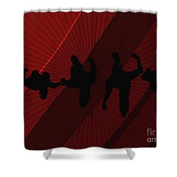 Above Perspective Shower Curtain