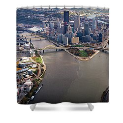 Above Pittsburgh In  Color  Shower Curtain
