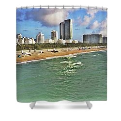 Above South Beach  Shower Curtain