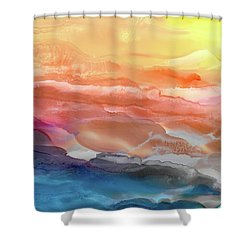 Above The Abyss Shower Curtain