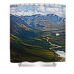 Above The Arctic Circle Shower Curtain by John Haldane