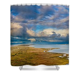 Above The Bay Shower Curtain