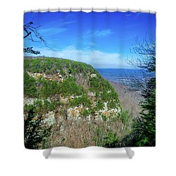 Above The Canyon Shower Curtain