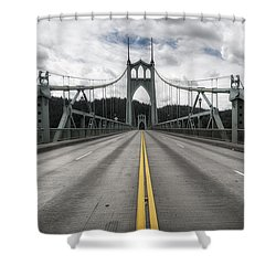 Above The Cathedral Shower Curtain by Ryan Manuel