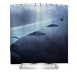 Above The Clouds 04 - Dreaming Shower Curtain by Matthias Hauser