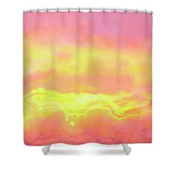 Above The Clouds - Abstract Art Shower Curtain by Jaison Cianelli
