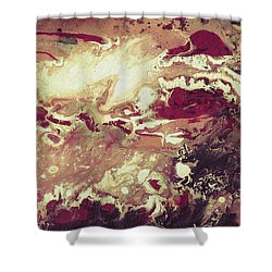 Above The Clouds - Contemporary Earth Tone Abstract Painting Shower Curtain