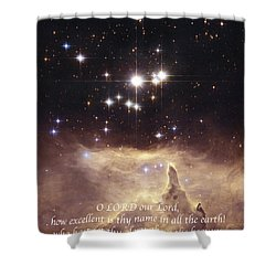Above The Heavens Shower Curtain by Michael Peychich