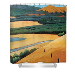 Above The Highway Shower Curtain