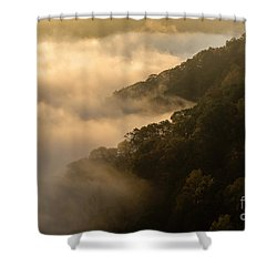 Shower Curtain featuring the photograph Above The Mist - D009960 by Daniel Dempster