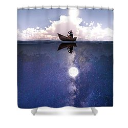 Above The Night Shower Curtain