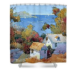 Above The Pacific Shower Curtain