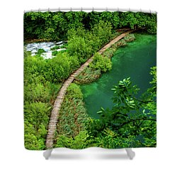Above The Paths At Plitvice Lakes National Park, Croatia Shower Curtain