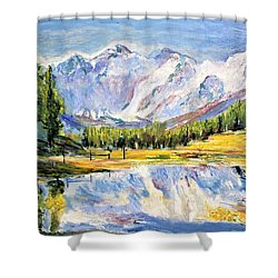 Above The Sea Level Shower Curtain