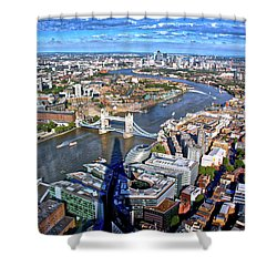 Above The Shadow Of The Shard Shower Curtain by Jim Albritton