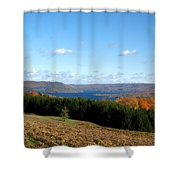 Above The Vines Shower Curtain