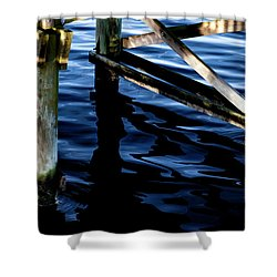 Shower Curtain featuring the photograph Above Water by Eric Christopher Jackson