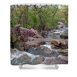 Above Winnewissa Falls 2 Shower Curtain