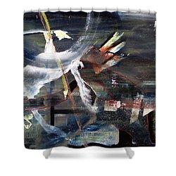 Abracadabra Shower Curtain by Antonio Ortiz