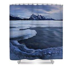 Abraham Lake Sans Bubbles Shower Curtain
