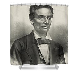 Shower Curtain featuring the photograph Abraham Lincoln - As A Presidential Candidate by International  Images