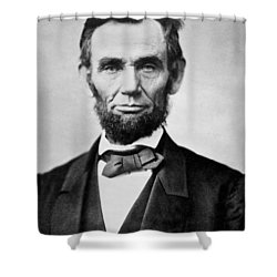 Abraham Lincoln -  Portrait Shower Curtain by International  Images